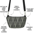 Anatomy of Tutenago Traveler Tote in Wavy Dots