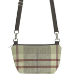 Tan Plaid Gears with Brown Nylon Traveler Bum Bag and Small Crossbody Purse by Tutenago