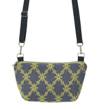Trellis Fabric with Navy Nylon Traveler Bum Bag and Small Crossbody Purse by Tutenago