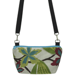 Tropical with Black Waterproof Nylon Ready-to-ship Traveler Waist Bag and Small Crossbody Purse by Tutenago