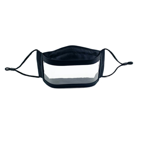 Anti-Fog Window Face Mask - Black