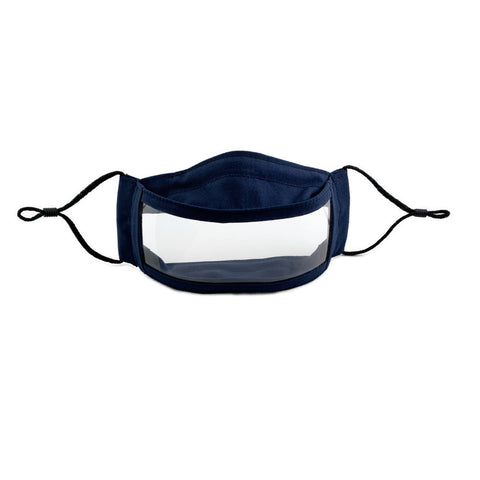 Anti-Fog Clear Window Face Mask - Navy