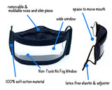 Anti-Fog Clear Window Face Mask - Under The Sea