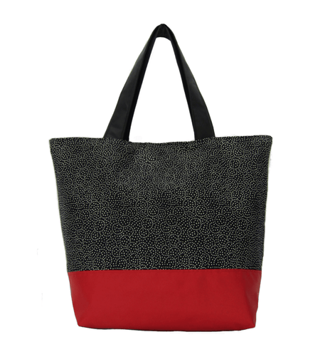 Upcycled 1 | Red Nylon | RTS Essential Tote Bag | Medium