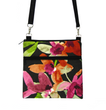Watercolor fabric with waterproof Black Nylon Ready-To-Ship Mini Square Crossbody Bag by Tutenago