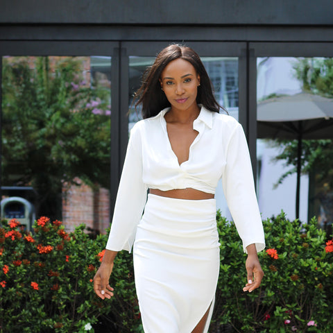 Wear this Chic White Set for a Show Stopping Monochromatic Look and Pair These Pieces Separately for Multiple Looks