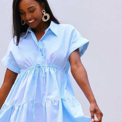 Our Classic Oxford Dress Can be Worn Casual with Your Favorite Sneakers or Throw on Your Favorite Summer Sandals for an Elevated Look