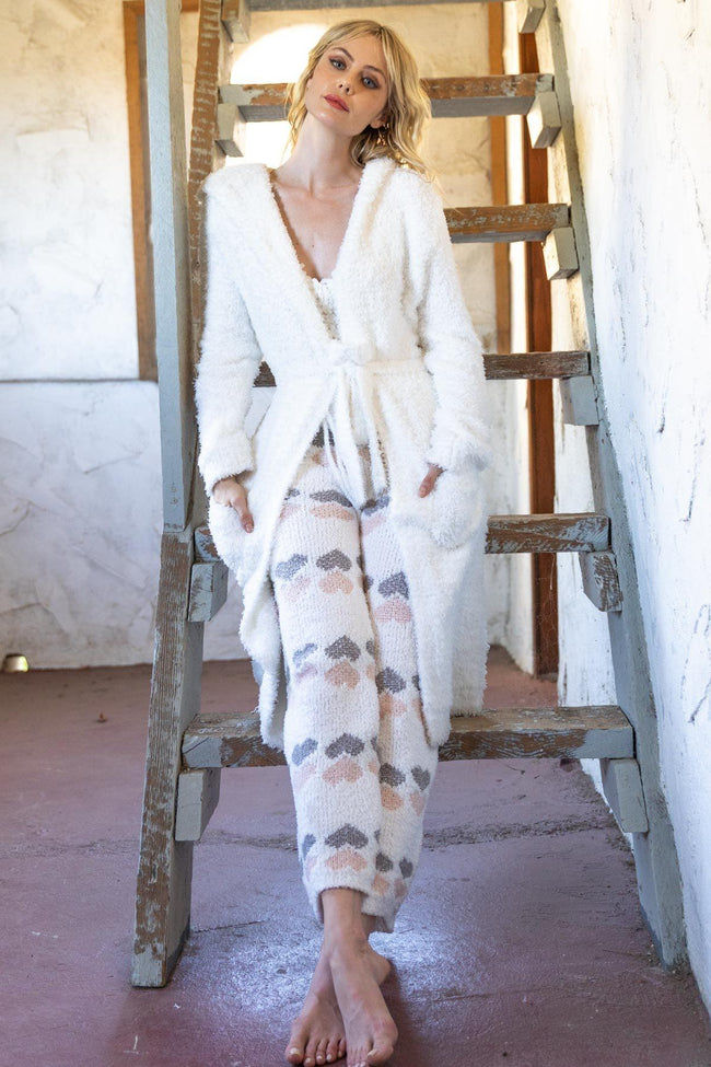White Cozy Robe
