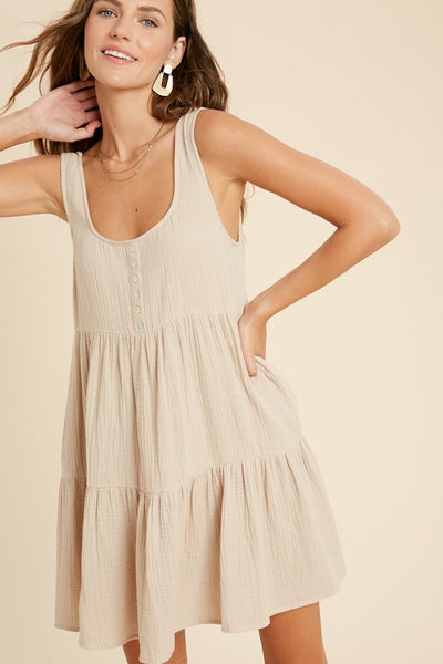 Sand Babydoll Dress