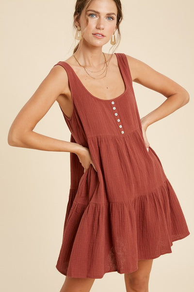 Rust Babydoll Dress