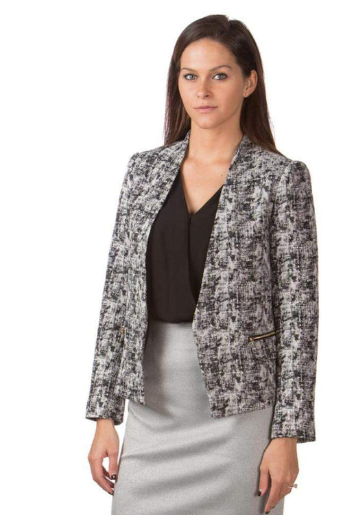 Black & Gray Pattern Blazer