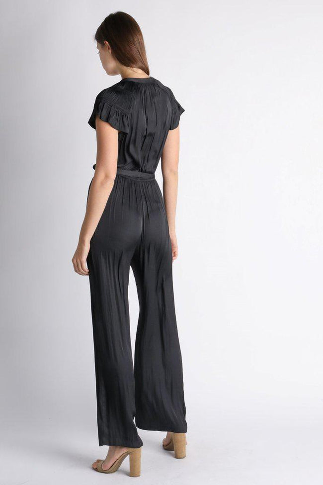 Jumpsuit with Pleated Shoulder Detail