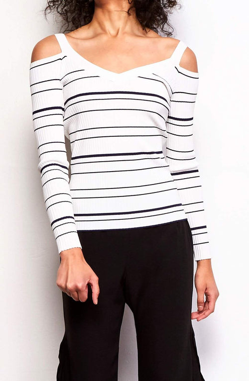 BB Dakota Apollo Stripe Sweater - Front