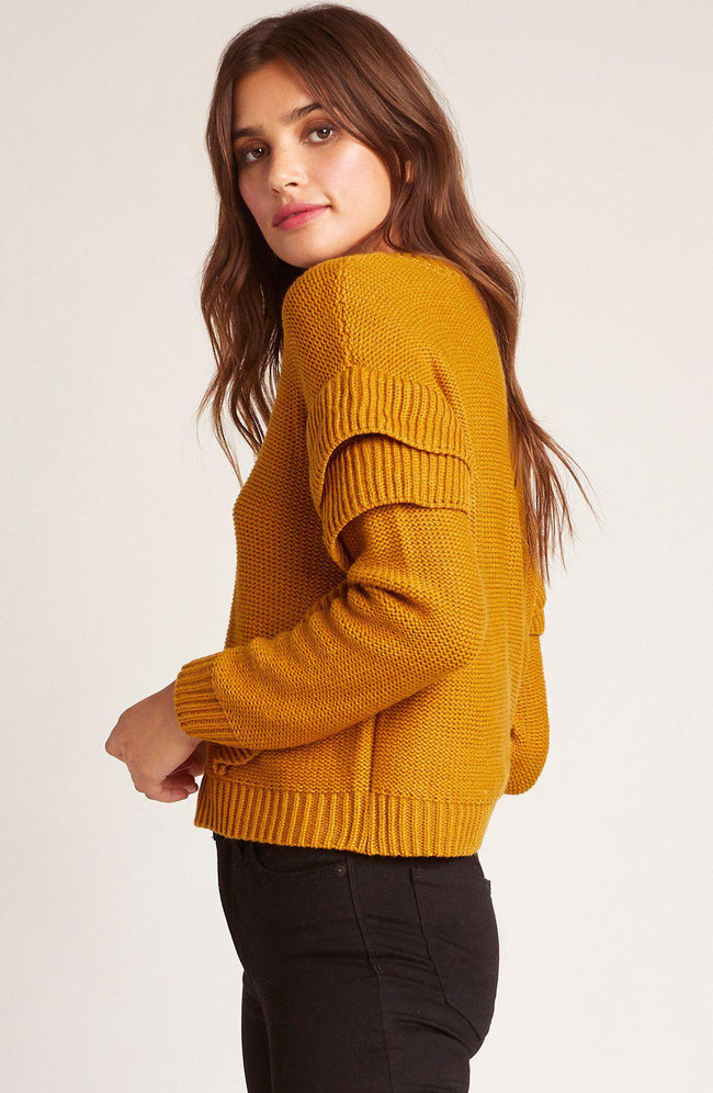 Cabin Fever Mustard Sweater