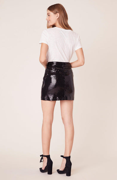 Modern Love Black Sequin Skirt