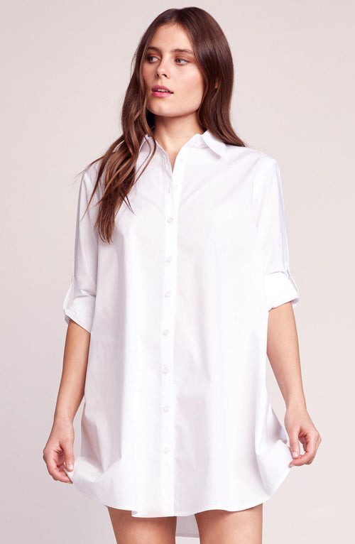 Every Occasion Optic White Shirt Dress