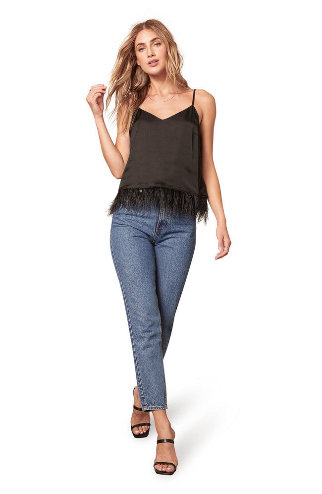 Feather Report Top Black