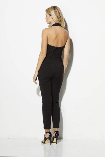 Adelyn Rae - Black Cross Neck Jumpsuit - rear