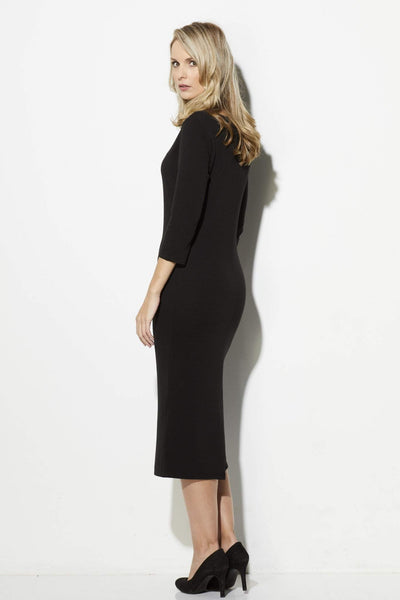 BB Dakota - Black 3/4 Sleeve Midi Dress - rear