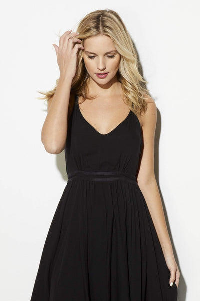 Black Flowy Midi Dress