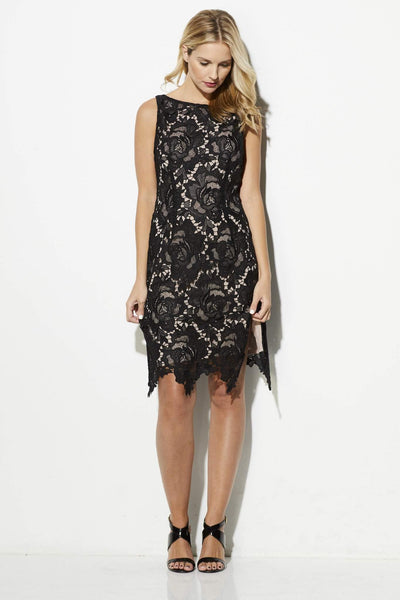 BB Dakota - Rose Lace Overlay Dress - front
