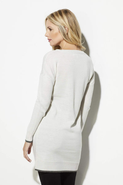 Cupcakes & Cashmere - Ivory Varsity Sweater - rear