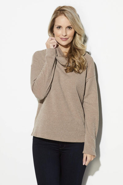 Taupe Turtleneck Sweater