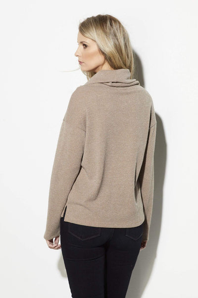 Everly - Taupe Turtleneck Sweater - rear
