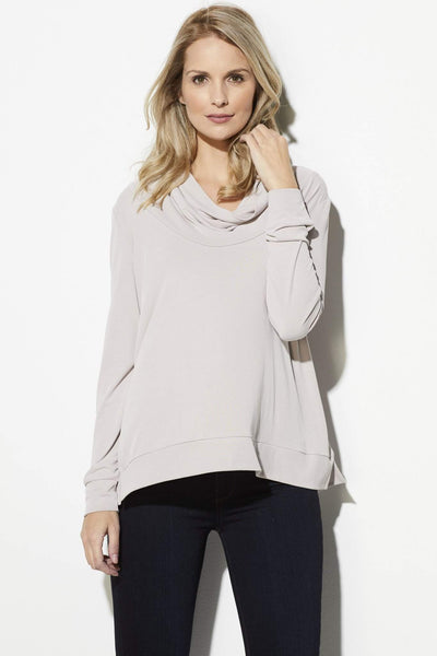 Light Mauve Cowl Neck Sweater