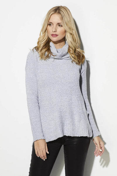 Ice Gray Turtleneck Sweater