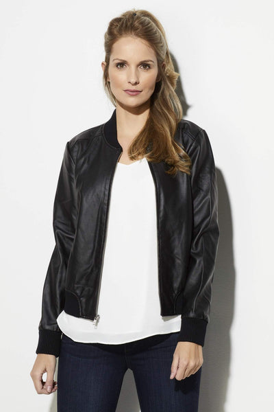 BB Dakota - Faux Leather Bomber Jacket
