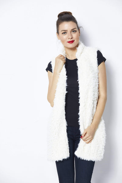 Bishop + Young Ivory Fur Vest -