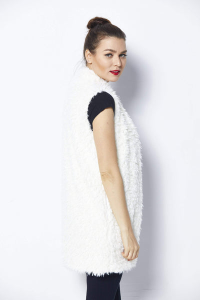 Bishop + Young Ivory Fur Vest - Back