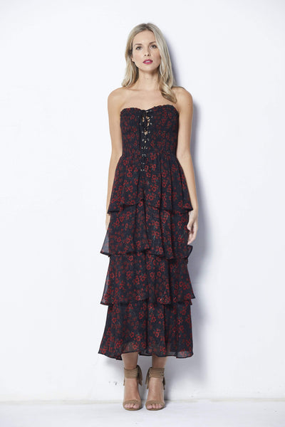 Endless Rose Night Blossom Print Maxi - Front