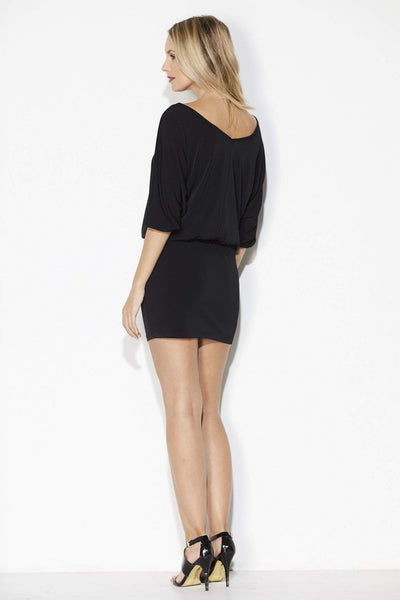 Black Dolman Sleeve Dress - back