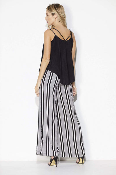 Bishop + Young - Stripe Wide Leg Pant - Back