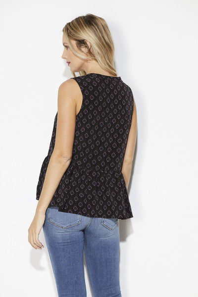 Cupcakes & Cashmere - Medallion Peplum Top - Back