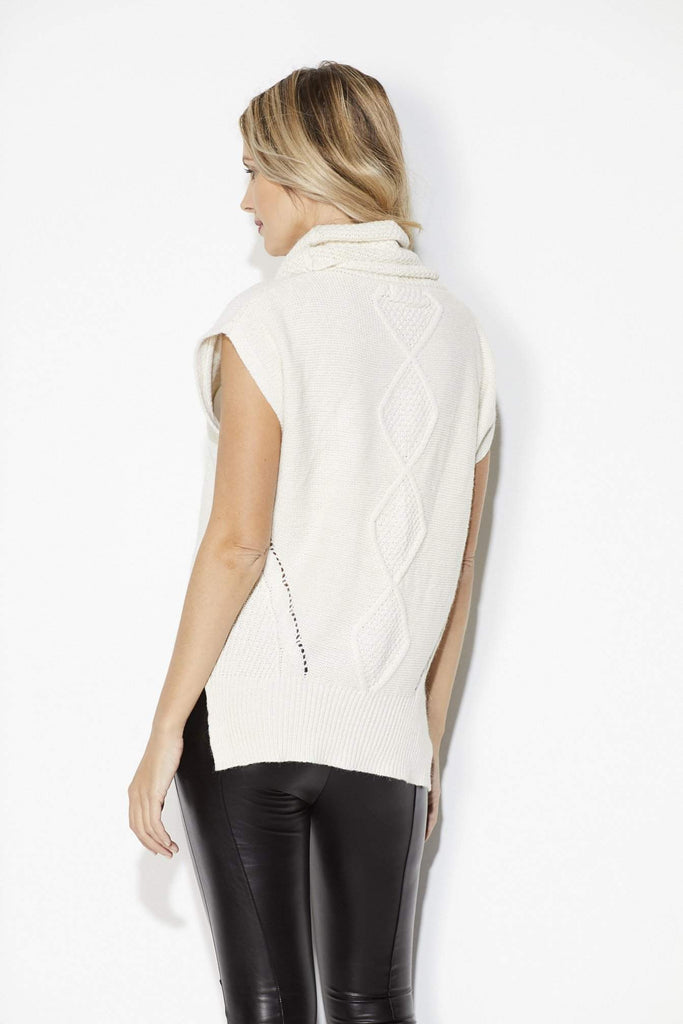 Bishop + Young - Ivory Cowl Neck Sweater = Back