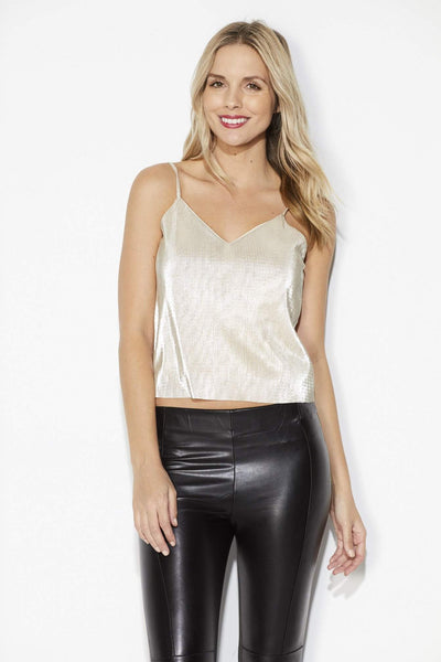 Everly - Gold Crepe Cami - Front