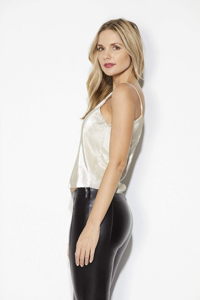Everly - Gold Crepe Cami - Back