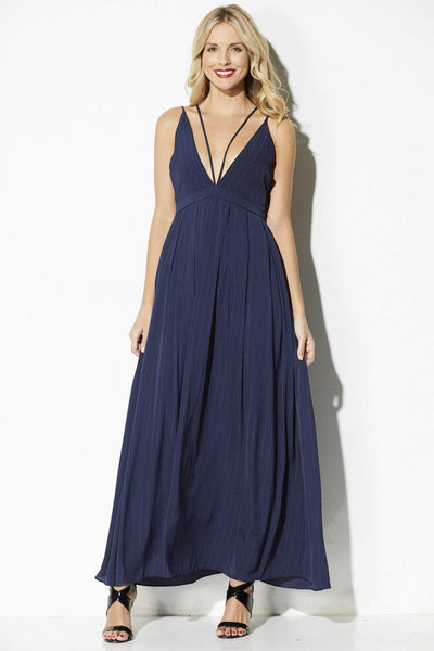 Lucy Pairs - Navy Double Strap Maxi - front