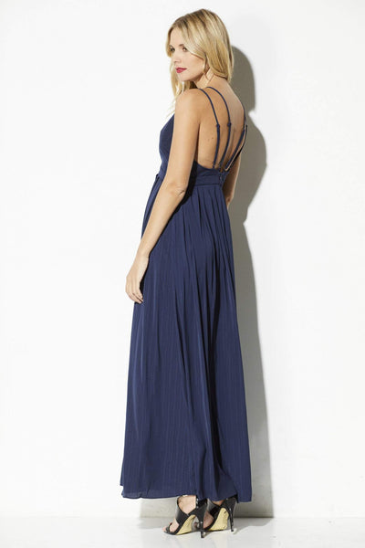 Lucy Pairs - Navy Double Strap Maxi - rear