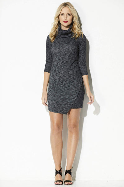 Jack - Asymmetrical Sweater Dress - front