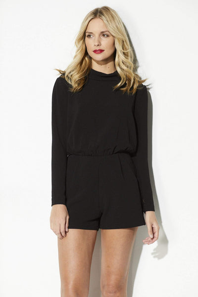 Black Long Sleeve Romper