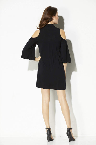 Everly - Mock Neck Cold Shoulder Dress - rear