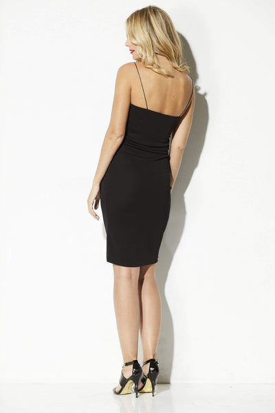 Bishop + Young - Black Midi Tank Dress - rear