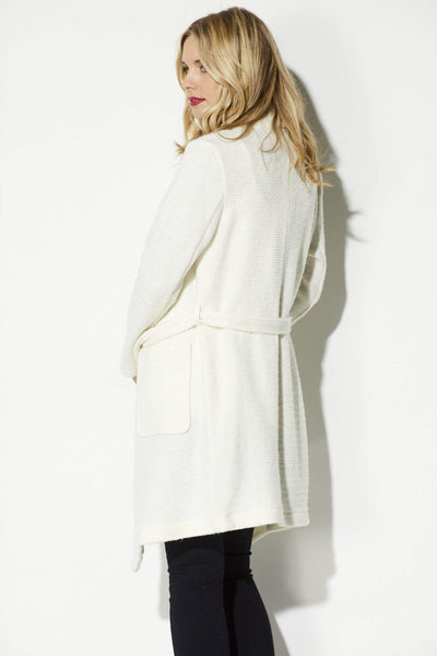 Cupcakes & Cashmere Ivory Trench Coat Side View