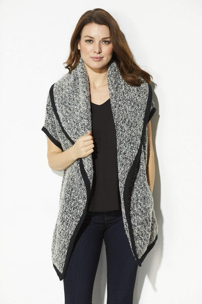 Black and White Wool Vest