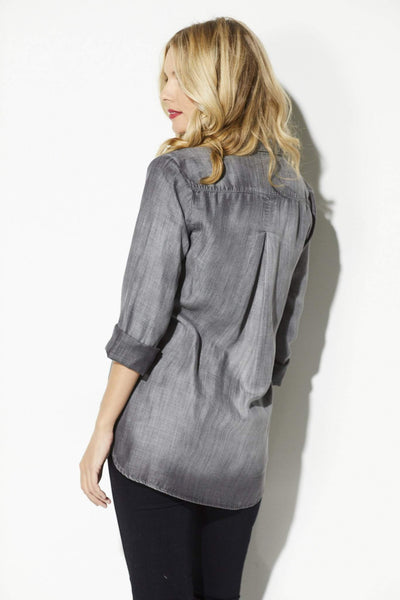 Grey Artic Button Down