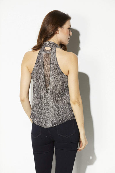 Bishop + Young - Snake Skin Tie Neck Tank - rear